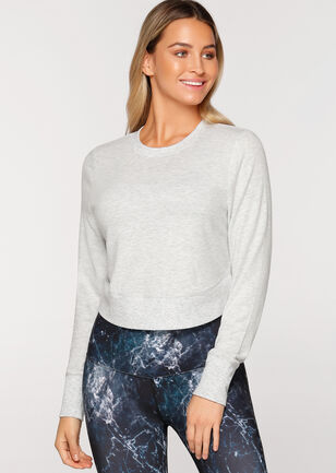 Feather Cropped Sweat