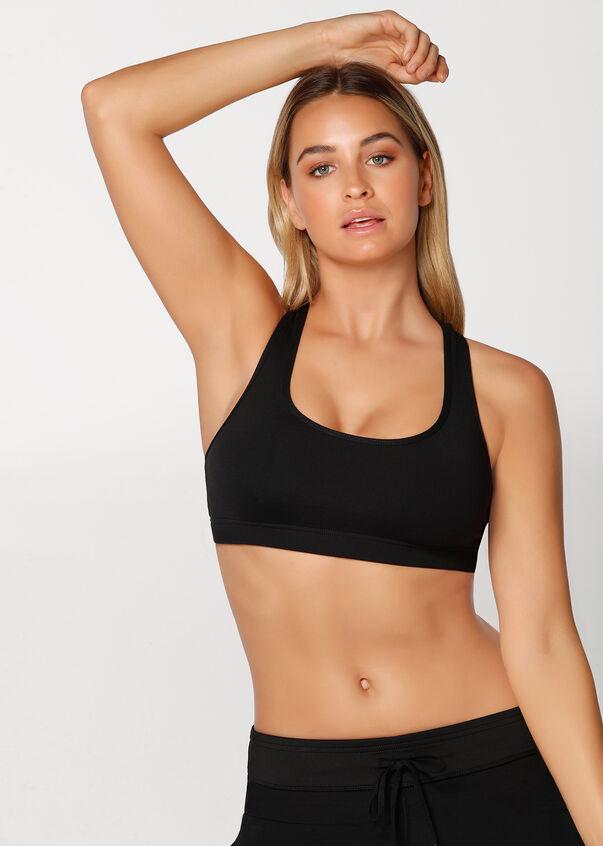 Comfort Sports Bra, Black, hi-res