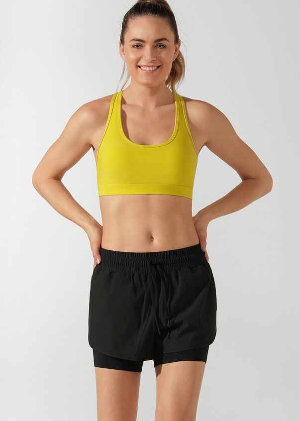 Studio Sports bra, Acid Yellow, hi-res