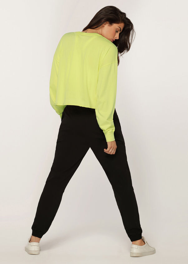 Layer-Up Cropped Long Sleeve Tee, Citrus Pop, hi-res