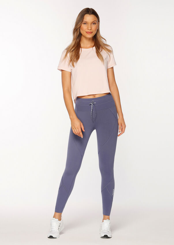 Breeze Cropped Active Tee, Swan Pink, hi-res