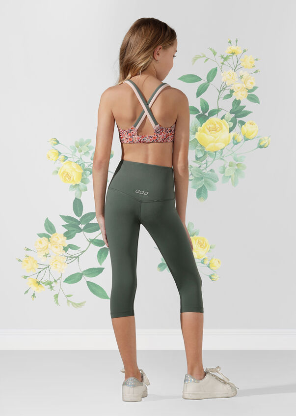 Lotus 3/4 Tight - Tween, Military, hi-res