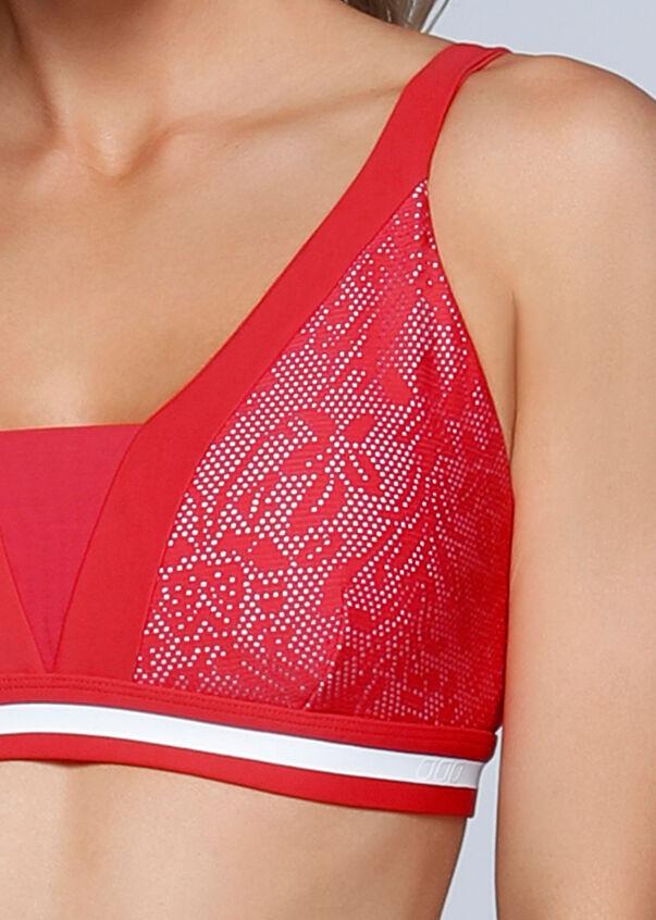 Valentina Sports Bra, Varsity Red/White, hi-res