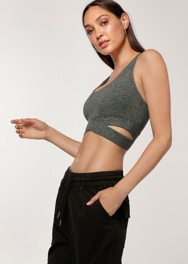 Muscle Up Sports Bra, Military Marl, hi-res