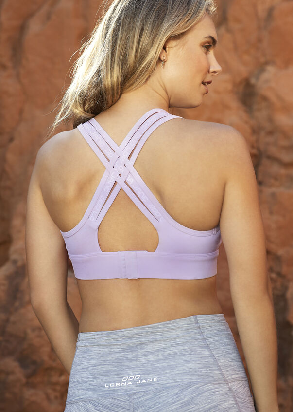 Reduce The Bounce Sports Bra, Pale Violet, hi-res