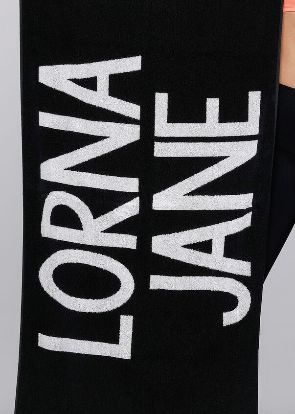 LJ Gym Towel, Black/White, hi-res