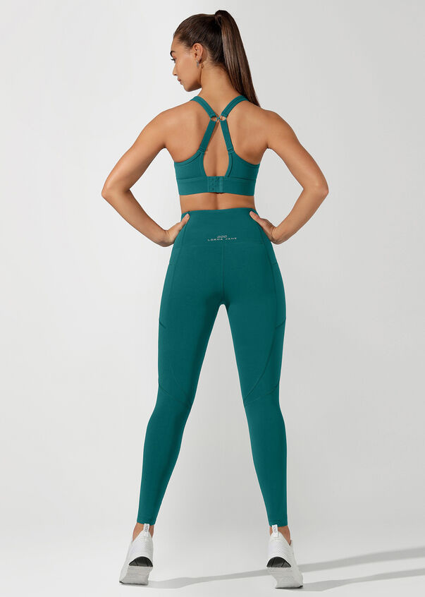Active Days Zip Core Full Length Tight, Amazon Green, hi-res