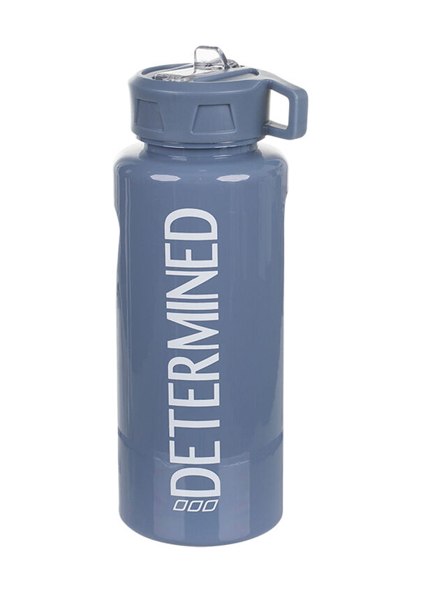 Determined 1L Water Bottle, Powder Grey, hi-res