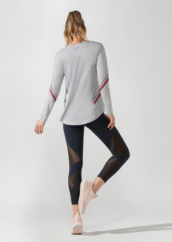 Athleisure Long Sleeve Top, Grey Marl, hi-res