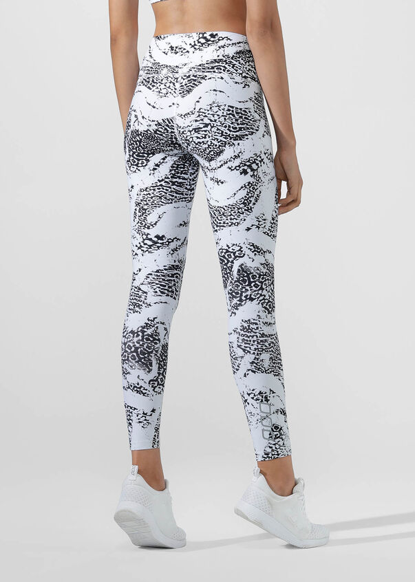 Snow Leopard Excel Full Length Tight, Snow Leopard Print, hi-res