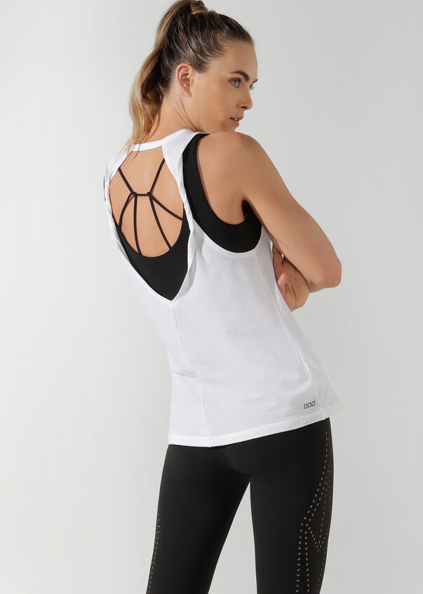 But First, Yoga Tank, White, hi-res