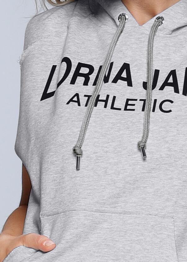 LJ Athletic S/Less Hoodie, Light Grey Marl, hi-res