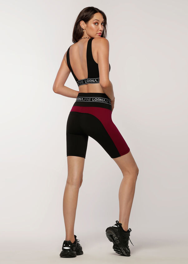Square Neck Sports Bra, Black, hi-res