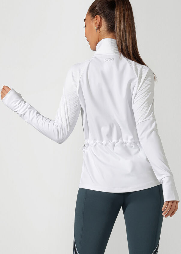 Perform Long Sleeve Active Top, White, hi-res