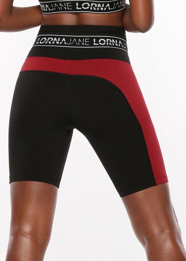 Iconic Long Bike Short, Black/Cherry, hi-res