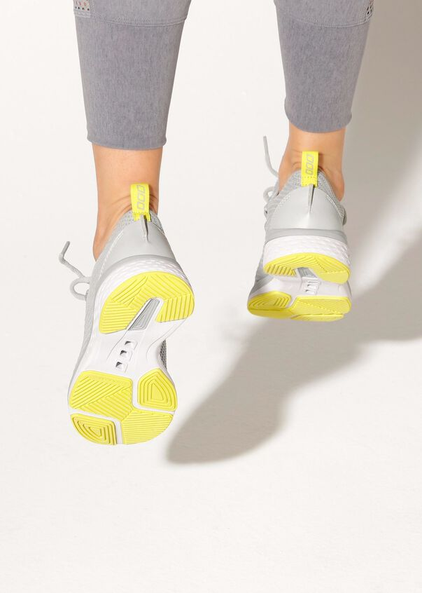 Perform Run Shoe, Light Grey / Citrus Pop, hi-res