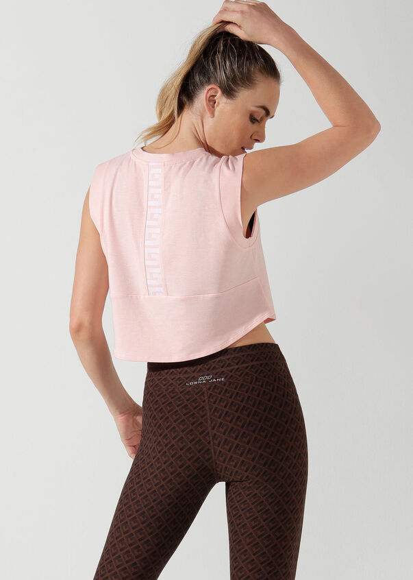 Move Easy Cropped Tank, Enchanted Pink, hi-res
