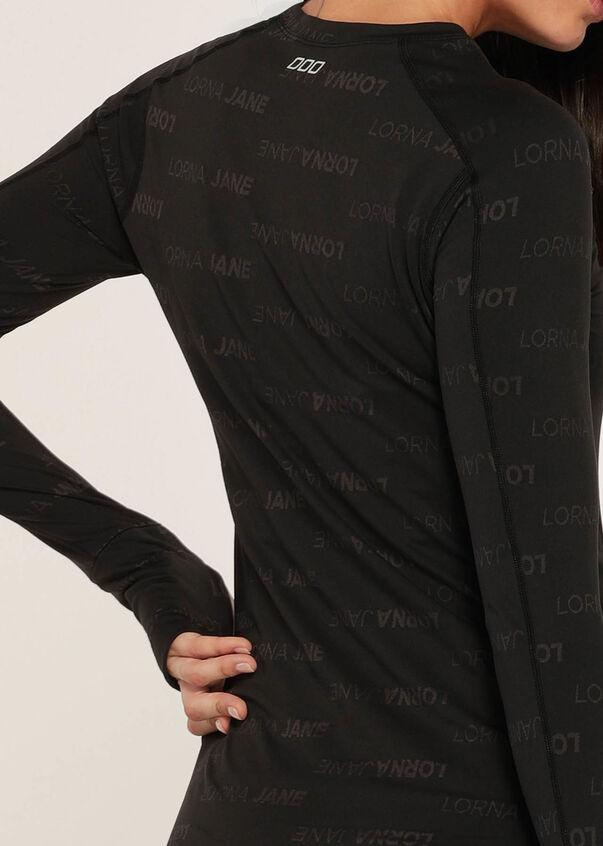 Logo Tech Long Sleeve Performance Top, Black, hi-res