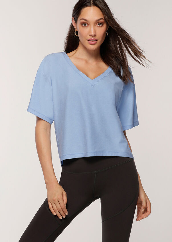 Tempo Active Tee, Toulouse Blue Marl, hi-res