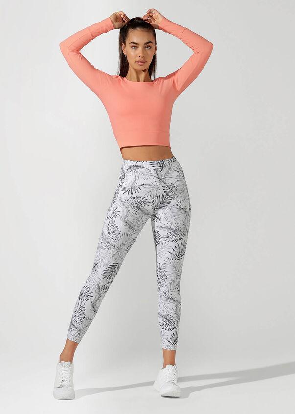 Workout Bare Minimum Cropped Top, Tangerine, hi-res