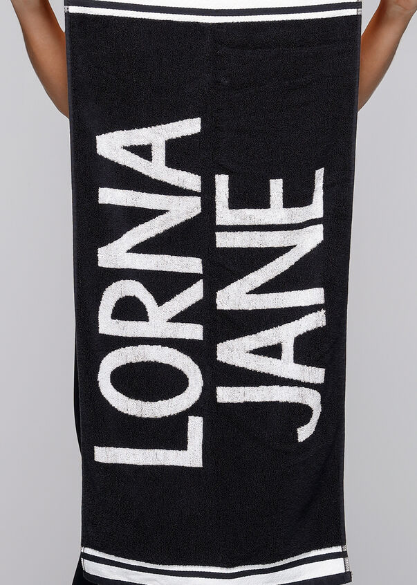 Lorna Jane Sweat Towel, Black/White, hi-res