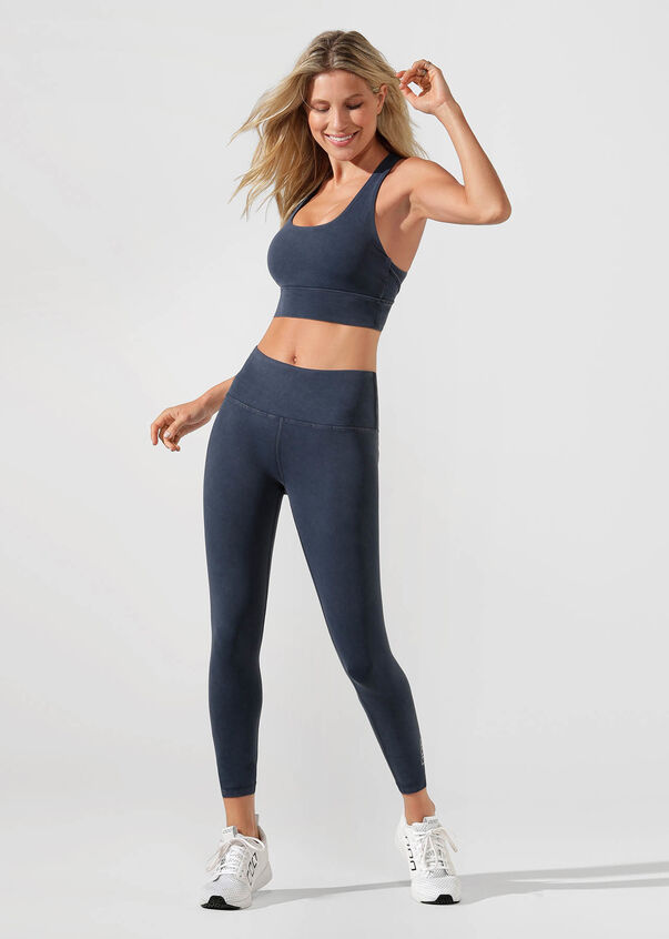 High Coverage Sports Bra, Washed Midnight Indigo, hi-res