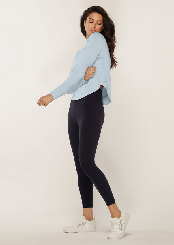 Throw Over Active Long Sleeve Top, Blue Sky, hi-res