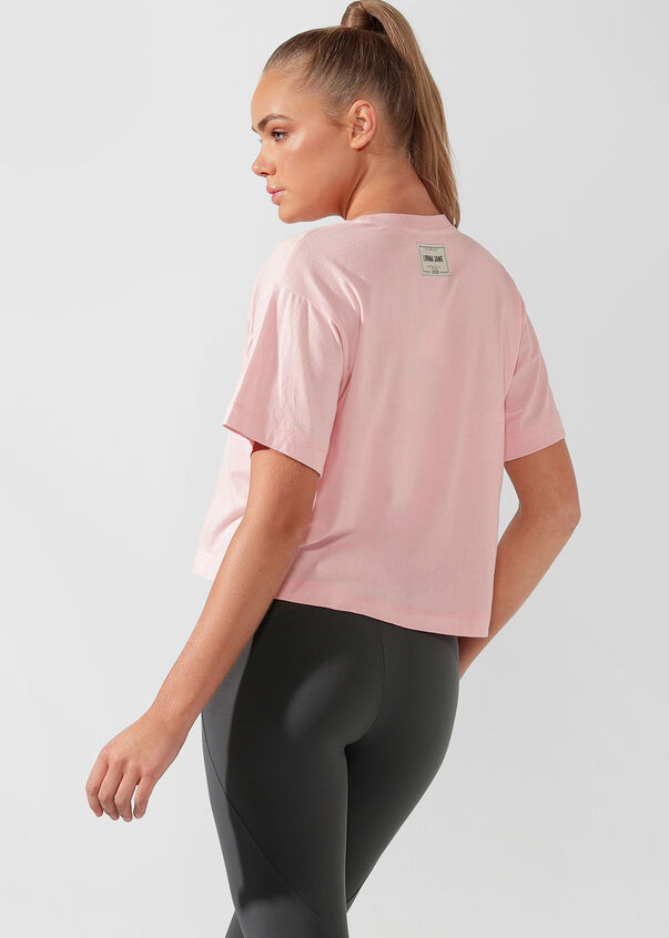 Take It Easy Cropped Tee, Pale Peony, hi-res