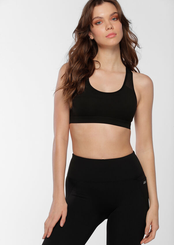 Comfort Support Sports Bra, Black, hi-res