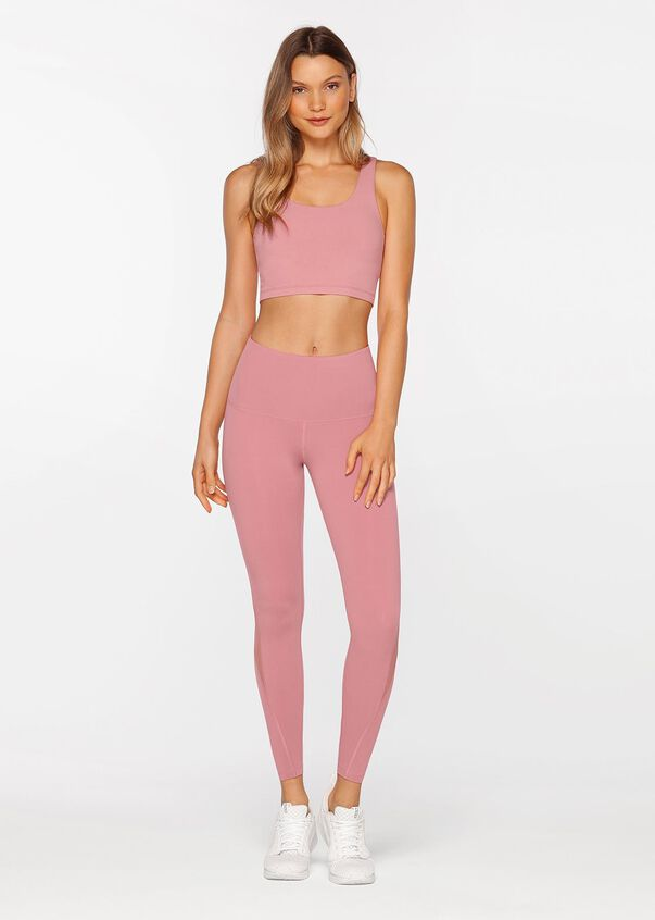 Lilly Core Full Length Tight, Powdered Pink, hi-res