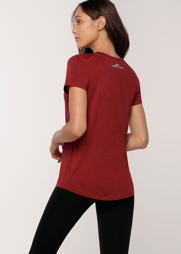 Move Freely Active Tee, Cherry Marl, hi-res