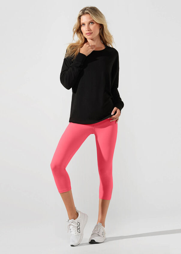 Freedom Active Long Sleeve Top, Black, hi-res