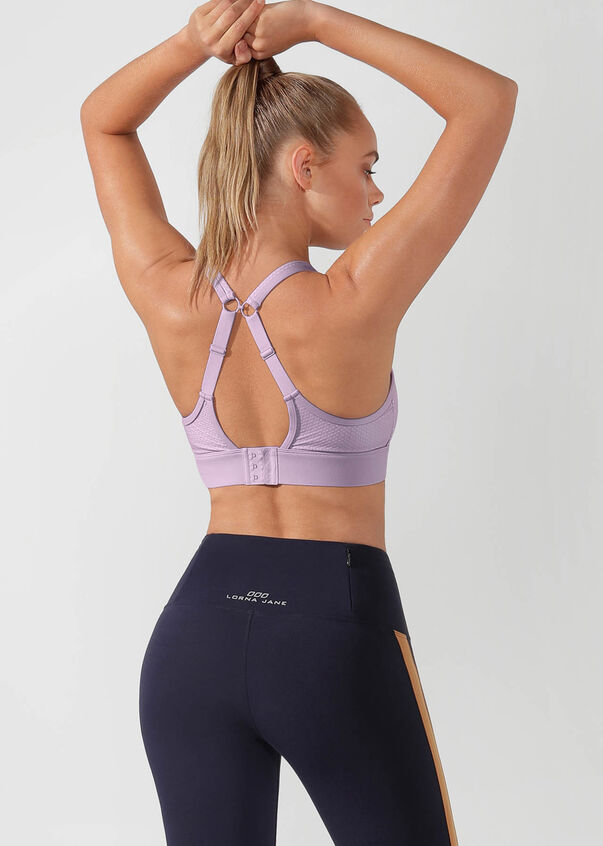 Compress & Compact Sports Bra, Pale Orchid Lilac, hi-res