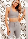 Everyday Racer Back Sports Bra, Concrete Grey Marl, hi-res