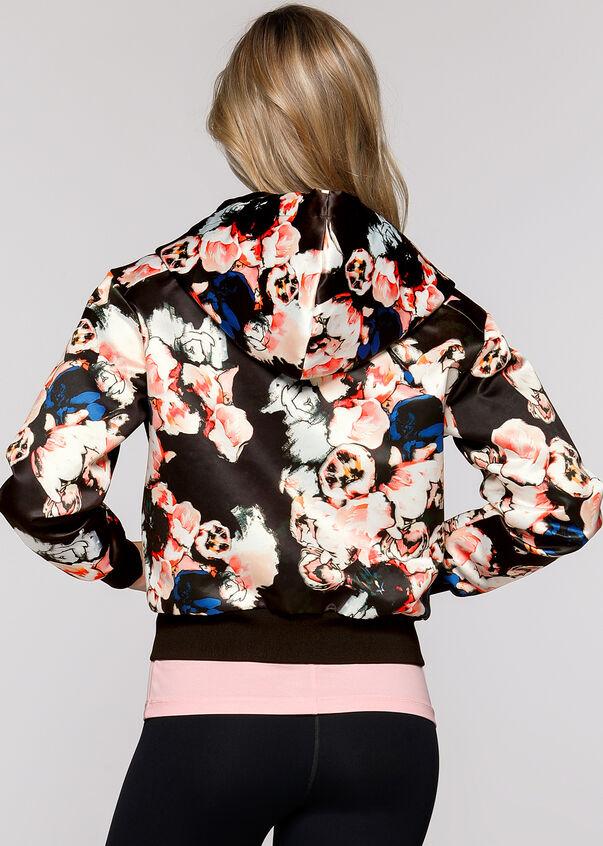 Blossom Bomber Jacket, Gothic Blossom Print, hi-res
