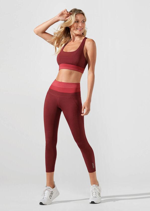 Energise Sports Bra, Dark Red Marl, hi-res