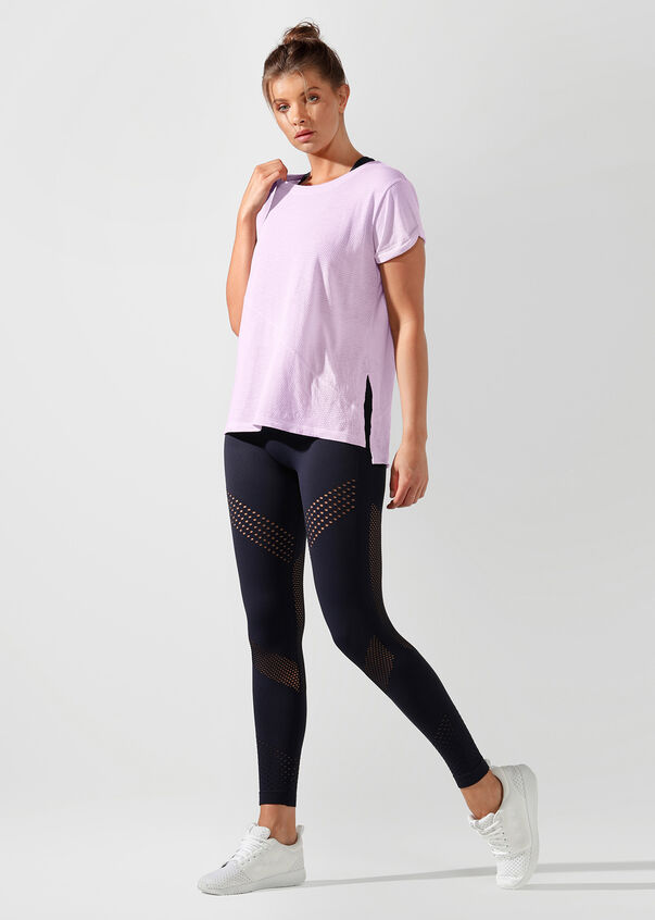 Tie Me Active Tee, Pale Orchid Lilac, hi-res