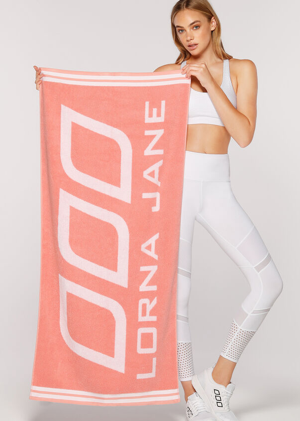 Workout Towel, Peach, hi-res