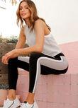 Icon Retro Sport Ankle Biter Leggings, Concrete Grey, hi-res