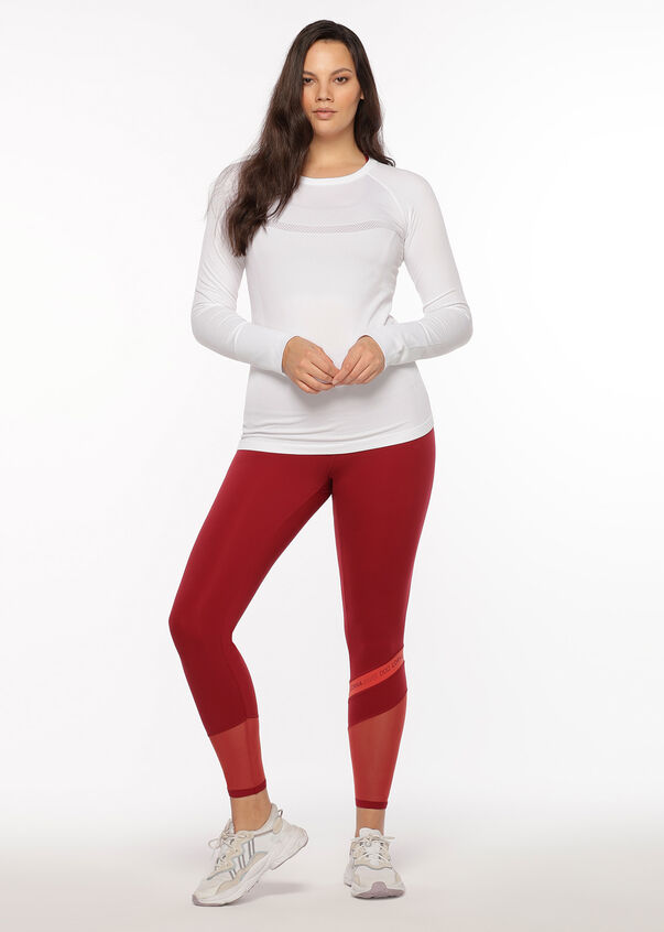 Comfort Seamless Long Sleeve Top, White, hi-res
