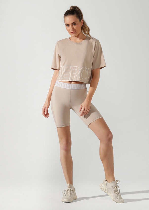 Fierce Cropped Tee, Off White, hi-res