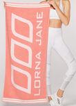 Workout Towel, Peach, hi-res