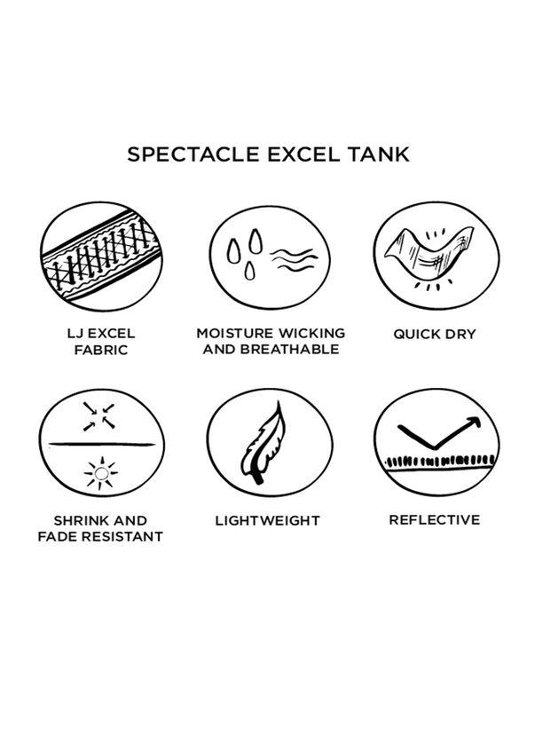 Spectacle Excel Tank, Candyland Pink, hi-res